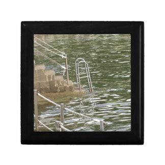 Ladder descending into the sea water keepsake box