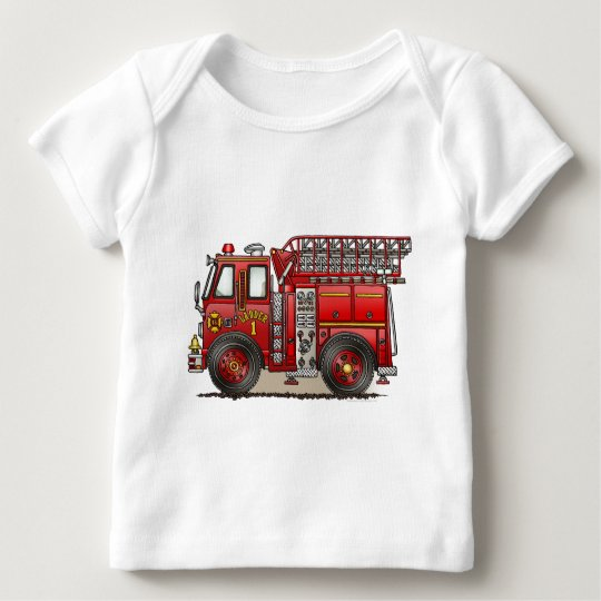 Ladder Fire Truck Baby T-Shirt
