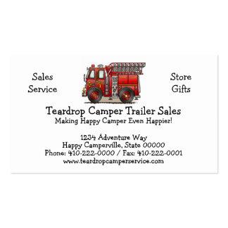 Ladder Fire Truck Business Cards