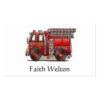 Ladder Fire Truck Business Card Templates