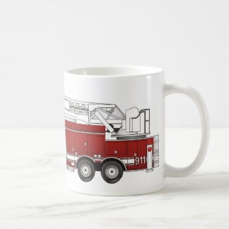 Ladder Fire Truck Coffee Mug