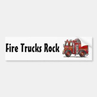 """""""Ladder Fire Truck, Fire Trucks Rock Bumper Sticke Bumper Stickers"""