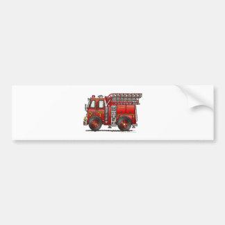 Ladder Fire Truck Firefighter Bumper Sticker