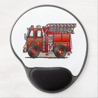 Ladder Fire Truck Gel Mouse Pad