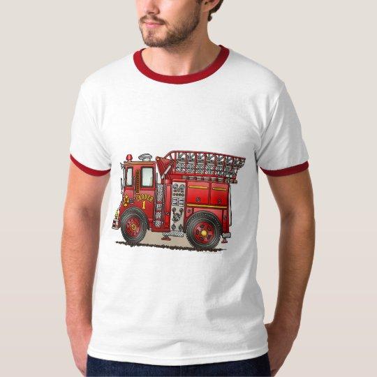 Ladder Fire Truck Mens T-Shirt