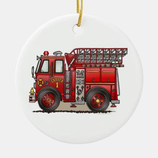 Ladder Fire Truck Ornament