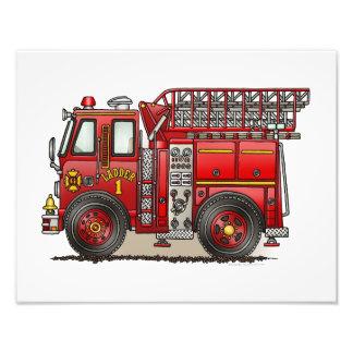 Ladder Fire Truck Photo Print