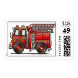 Ladder Fire Truck Stamps