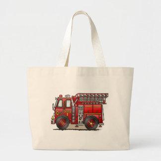 Ladder Fire Truck Tote Bag