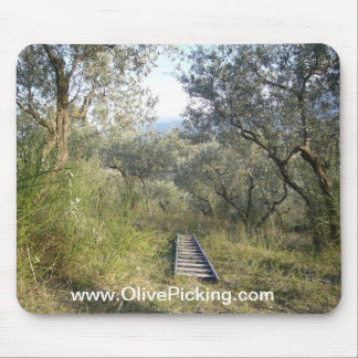 Ladder in the Olive Grove Mouse Pad