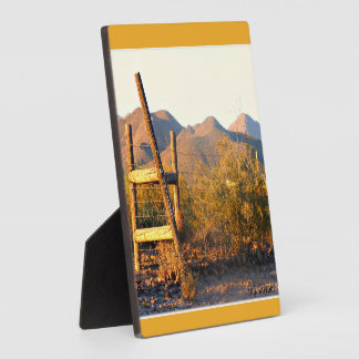 Ladder into New River Photo Plaque with Easel