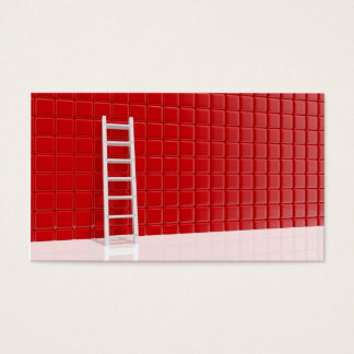 Ladder leaning against to wall business card