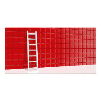 Ladder leaning against to wall card