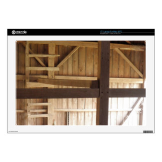 """Ladder Loft & Rafters Old Barns Rural Photo Decal For 17"""" Laptop"""