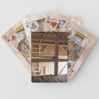 Ladder Loft & Rafters Old Barns Rural Photo Poker Cards