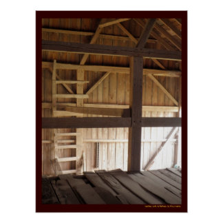 Ladder Loft & Rafters Old Barns Rural Photo Poster