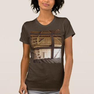 Ladder Loft & Rafters Old Barns Rural Photo T-Shirt