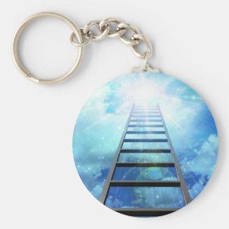 Ladder of Light Basic Round Button Keychain