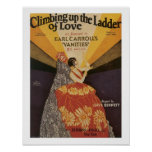 Ladder of Love Vintage Music Sheet Cover Poster