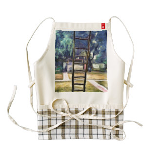 Ladder propped up against wall zazzle HEART apron