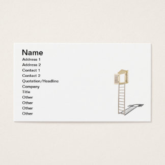 Ladder to Shuttered Window Business Card