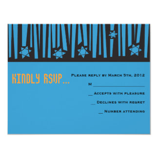 LADDER to the STARS Bar Bat Mitzvah Reply Card2 Card