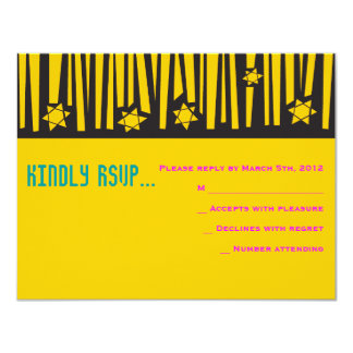 LADDER to the STARS Bar Bat Mitzvah Reply Neon Card