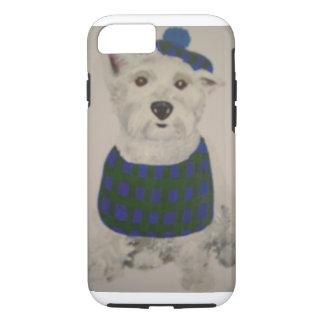 Laddie the Westie in Tam & Bib iPhone 8/7 Case