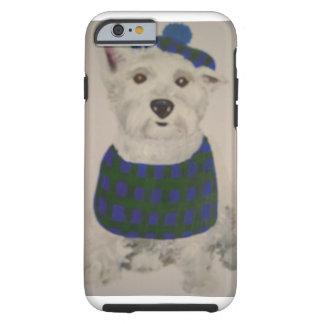 Laddie the Westie in Tam & Bib Tough iPhone 6 Case