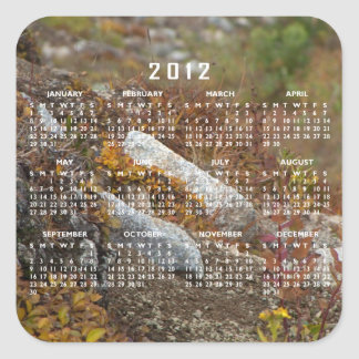Ladera de Hermosa; Calendario 2012 Pegatina Cuadrada