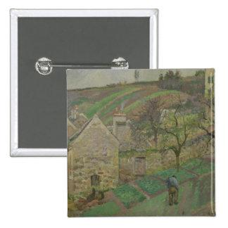 Ladera de la ermita, Pontoise, 1873 Pin Cuadrada 5 Cm