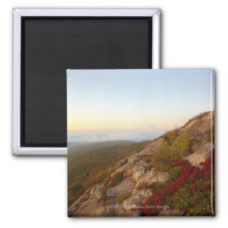Ladera rocosa, flores rojas, parque nacional del A Imán Cuadrado
