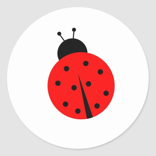 Ladiebug Classic Round Sticker