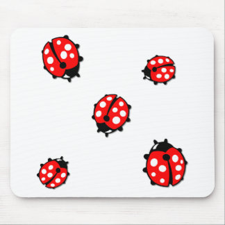 Ladiebug Formation Mouse Pad