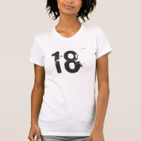 Ladies #18 Distressed Grungy Destroyed Tee