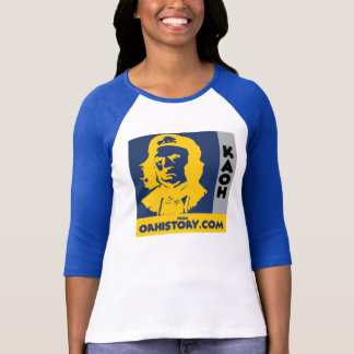 Ladies 3/4 Sleeve Baseball KAOH Logo Shirt