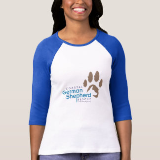 Ladies 3/4 sleeve (blue/gray logo) - Coastal GSR T-Shirt