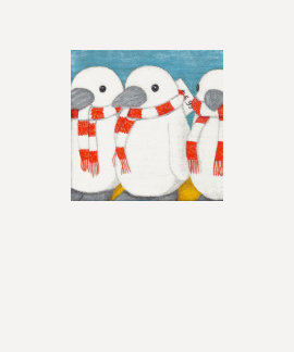 Ladies 3/4 Sleeve, Cute Penguins Shirts