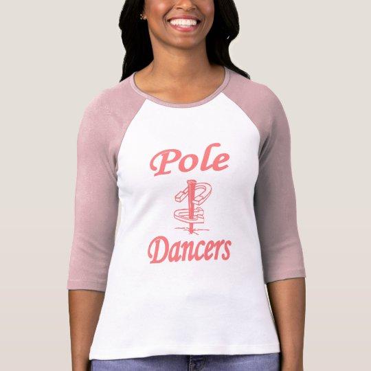 Ladies 3/4 Sleeve HorseShoes Pole Dancers T-Shirt