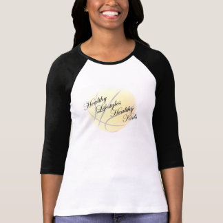 Ladies 3/4 Sleeve Raglan - Basketball T-Shirt