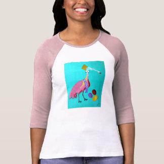 Ladies 3 4 Sleeve Raglan fitted Shirt