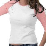 Ladies 3/4 Sleeve Raglan (Fitted): White/Pink Tee Shirts