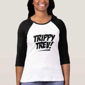 Ladies 3 4 Sleeve Raglan Trippy Trev Tshirt