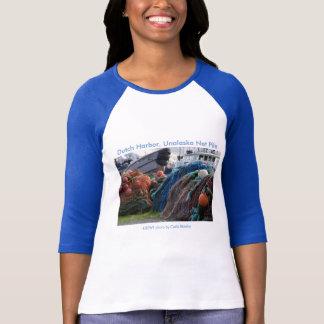 Ladies 3/4 T / Dutch Harbor, Unalaska Net Pile T-Shirt