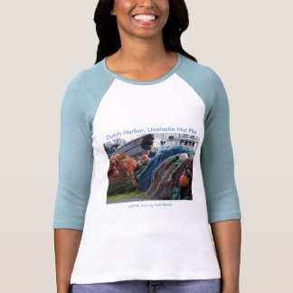 Ladies 3/4 T / Dutch Harbor, Unalaska Net Pile T-shirts