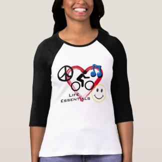 """Ladies' 3/4 T-shirt, """"Life Essentials"""""""