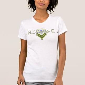 Ladies AA Reversible Sheer Top - Wearing The Rank Tee Shirt