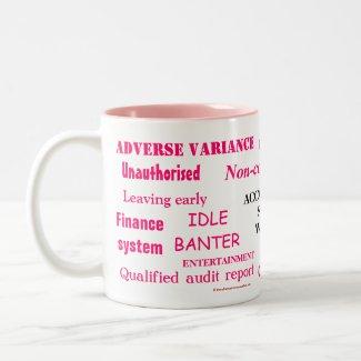 Ladies Accounting Swear Words!! Pink 'n' black mug