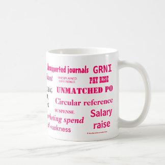Ladies Accounting Swear Words!! Pink 'n' black Mugs