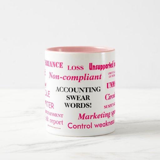 Ladies Accounting Swear Words!! Pink 'n' black Coffee Mug